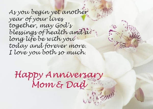 Anniversary Wishes For Mom And Dad With Lovely Images