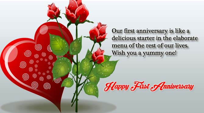 happy first wedding anniversary wishes to my wife ltt